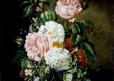 Fleurs dans un bocal