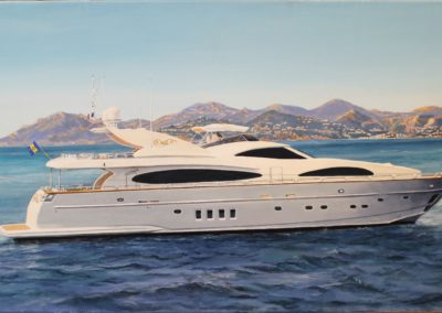 Yacht devant l'Esterel