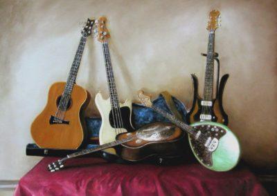 Guitares sur une nappe