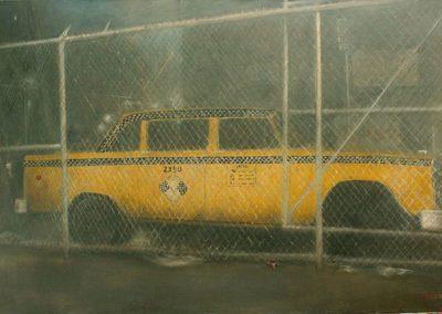 Taxi New Yorkais abandonné