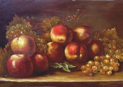 Pommes pèches raisin